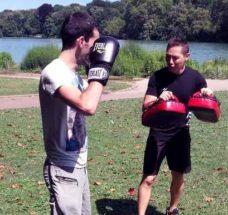 cours de boxe au parc de la tête d'or à Lyon