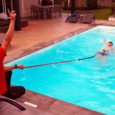 coaching natation à domicile à Lyon dans une piscine privée.